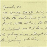 Alguns exemplos de guiões escritos à mão