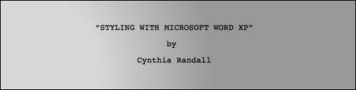 Modelo de guião da Microsoft para o Word