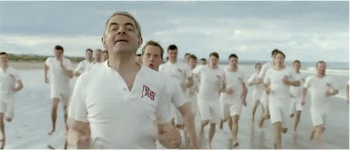 mr bean running