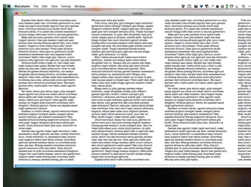 MyColumn, um editor gratuito para Mac