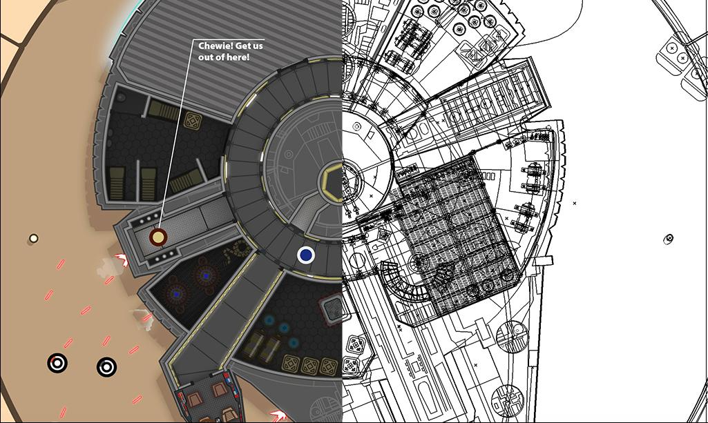 Star Wars IV em infografismo